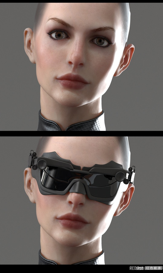 catwoman by uriso - U RI SO - CGHUB, cyberpunk, future, glasses, 3d model