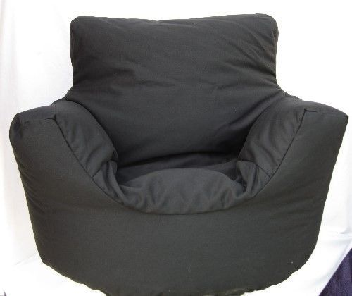 Large Size Adult Cotton Black Bean Bag Arm Chair Seat With Beans Gamer