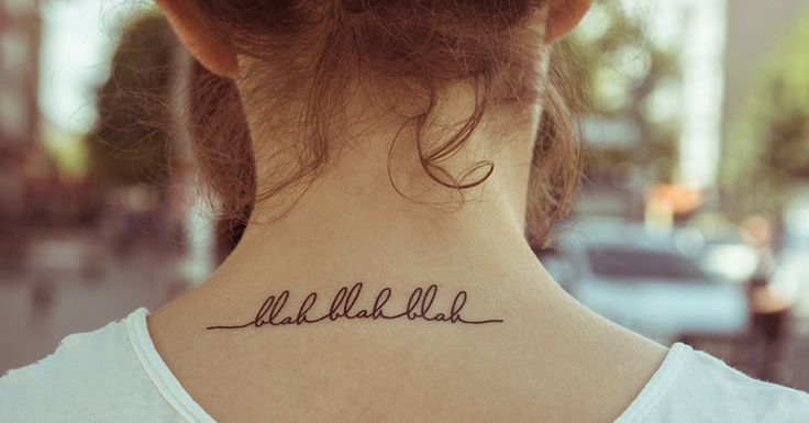 Temporary #Tattoo - blah blah blah  de TATTOO TATTAA sur DaWanda.com #antistvalentin