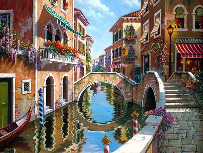 rendezvous-in-venice.jpg [Rendezvous in Venice - 20 x 26 or 30 x 40 Artist Embellished Giclee on Canvas]