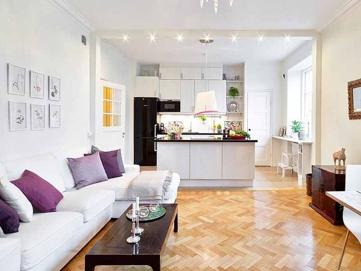 Small Open Plan Kitchen Living Room | Tuoqiao Wood