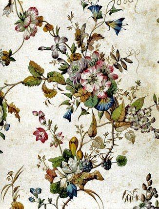 18th Century William Kilburn Textile Design: