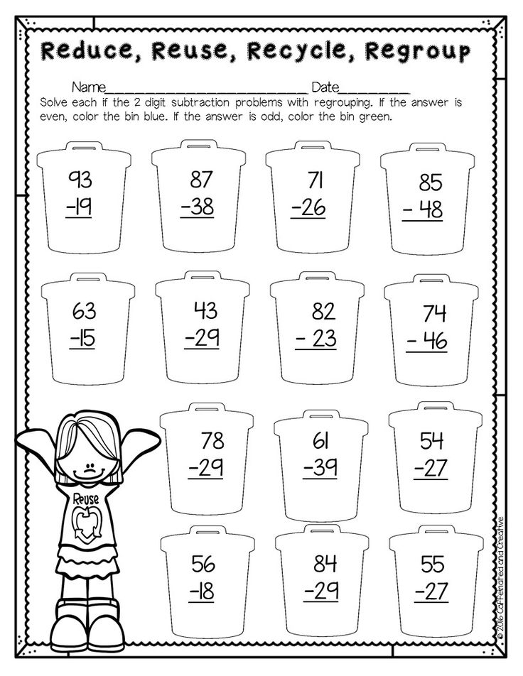 Spring Into Spring! | Second grade math, Subtraction with ...