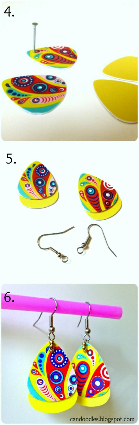 ReFab Diaries: Upcycle: Pick, punch, presto! (Guitar Pick Jewelry)
