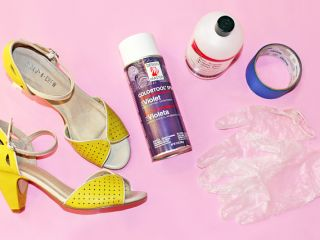 Cosplay Crafting: This Is the Secret to Flawlessly Painting Shoes - look at the comments for a better type of spray.