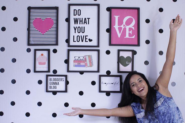 parede de quadros tumblr parede de quadros no quarto decoração quarto feminino molduras de papel para quadrinhos