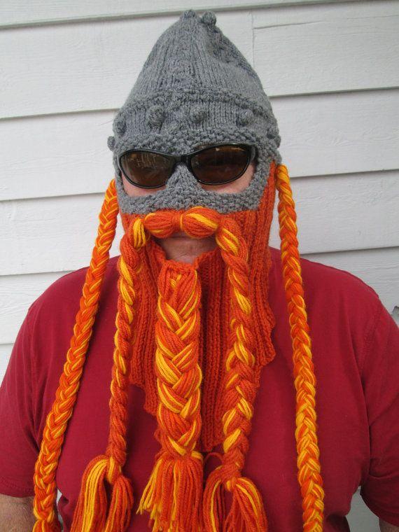 Viking Beard Hat Knitting Pattern : Hobbit Viking Beard and Hat Beard hat Beard Beanie by Ritaknitsall, USD60.00 ...