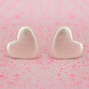 Sami Sterling Silver Heart Earrings