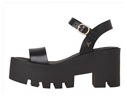 Windsor Smith , Damen Sandalen Schwarz Black, Schwarz - Black - Größe: 40 - Sandalen für frauen (*Partner-Link)