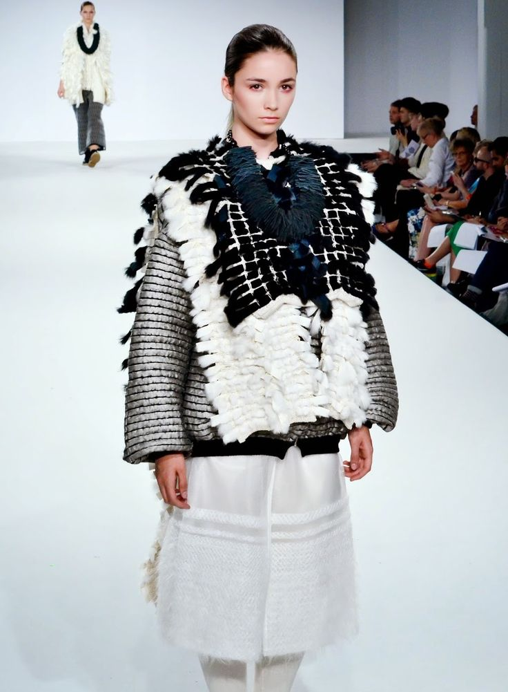 Rebecca Swann, Nottingham Trent University, one of the 11 selected for Fashion Scout Graduate Showcase at London Fashion Week - See all 11 on the ARTS THREAD blog http://blog.artsthread.com/2014/08/fashion-scout-graduate-showcase-2014/