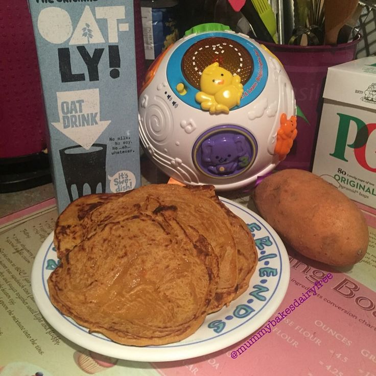Sweet Potato Pancakes  (dairy, egg, nut and soya free: mummybakesdairyfree)
