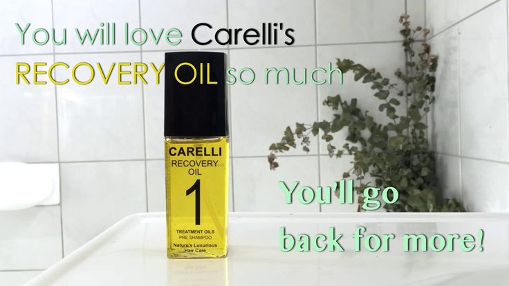 CARELLI Healthy Hair - Recovery Oil - YouTube