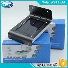 16 pcs led solaire à détecteur de mouvement boîtier en aluminium
