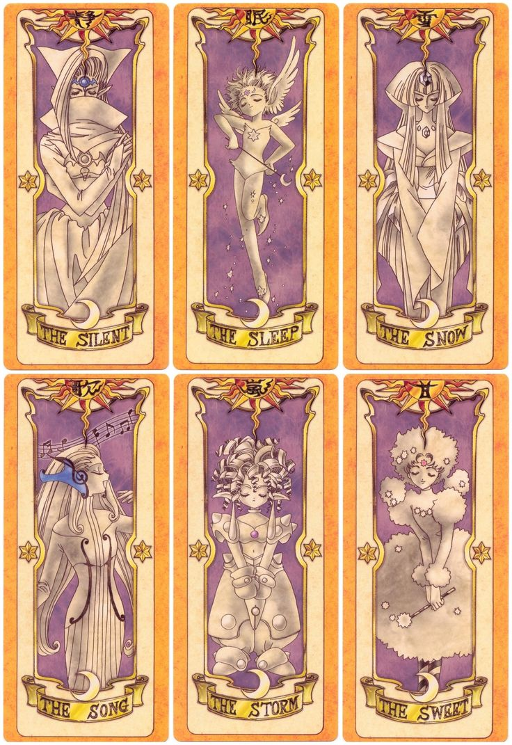 Clow Cards via CardCaptor Sakura created by artist group CLAMP