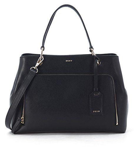 DKNY-Handtasche-Medium-Leder-Schwarz