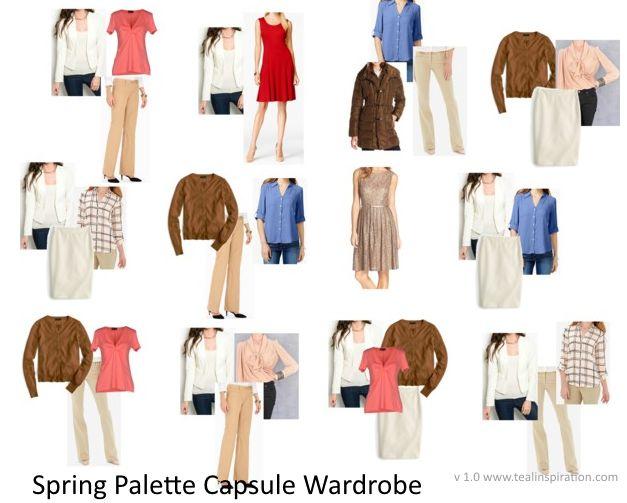 Spring Color Palette Wardrobe Capsule Wardrobe Capsule