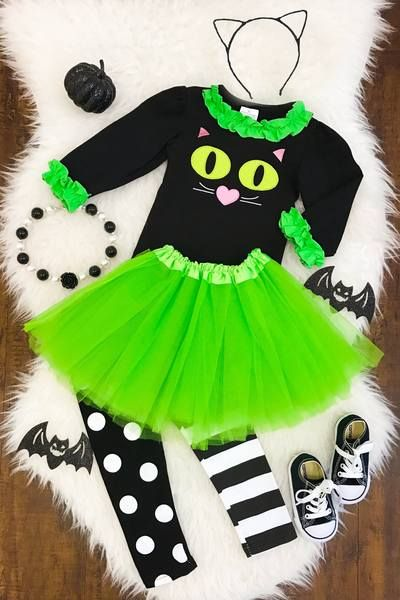 Green Eyed Cat 3 Pc. Tutu Skirt Set