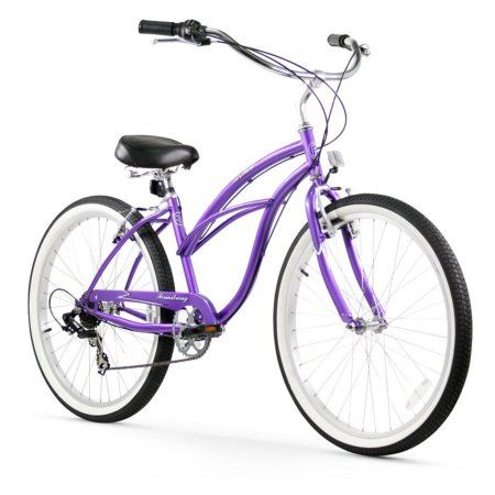 26 inch Firmstrong Urban Lady Seven Speed Women's Beach Cruiser Bike, Purple