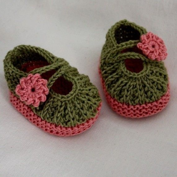 Daisy Baby Booties Knitting Pattern : INSTANT DOWNLOAD - Knitting Pattern (PDF file) - Daisy ...