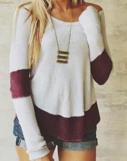 Winter sweater and denim short