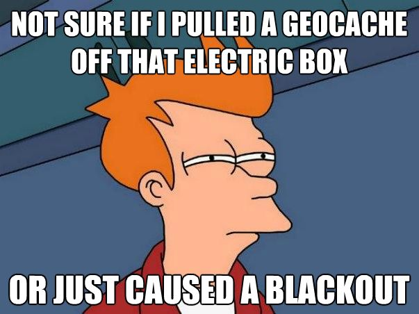 #RVing That moment of indecision, when you're not sure whether to tug on that 'thing' or not! #geocaching
