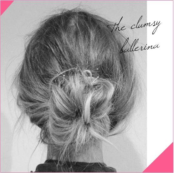 clumsy ballerina messy low bun hair tutorial