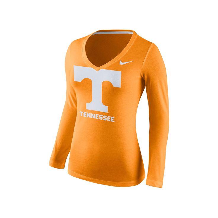 Women's Nike Tennessee Volunteers Wordmark Tee, Size: Medium, Orange