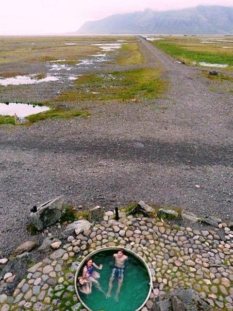 Hoffell hot tubs near Hofn Iceland 64°23'49.5″N 15°20'26.9″W