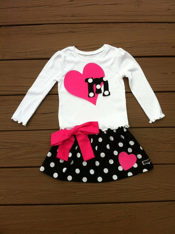 Custom childrens clothing. Girls Valentine by EverythingSorella, $47.50