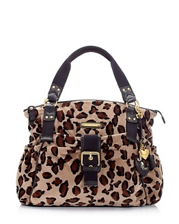 Leopard velour tote bag. Juicy Couture.