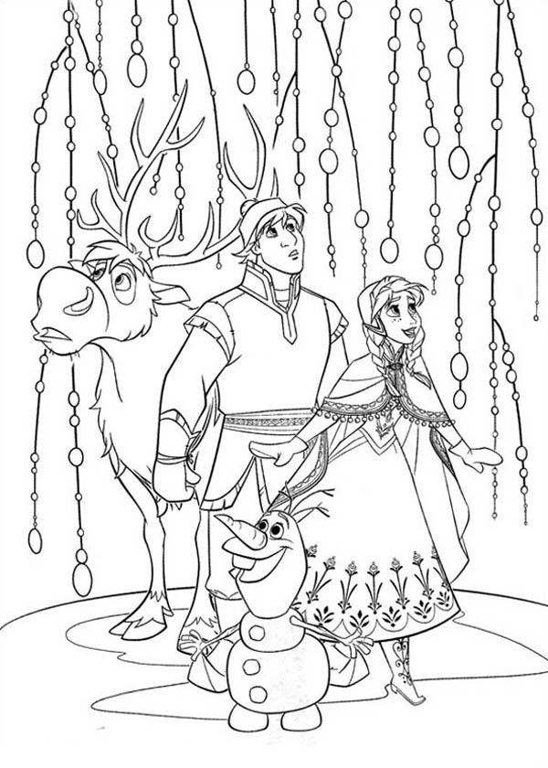 Frozen Friends Wonder Frozen Olaf Kristoff Coloring Pages