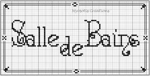 Bienvenue - welcome - salle de bains - point de croix - cross stitch - Blog : http://broderiemimie44.canalblog.com/