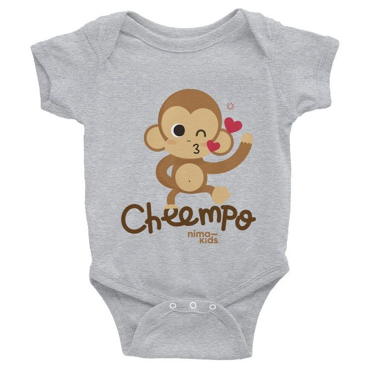 Cheempo Infant Bodysuit    This comfortable bodysuit will be a great addition to any baby's wardrobe, and lap shoulders will make for easier changing.     #infant #infantclothes #kidsclothes #kidsfashion #children #childrenswear #childrensboutique #childrensclothing #childrensfashion #coolkidsclothes #cheempo #nimakids #infantbodysuit #janegoodall #nature #endangeredspecies #chimpanzees #animals #cuteanimals #loveanimals #animalrights #animalsaddict #animalslover #animalprotection
