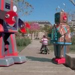 Giant Wind-Up Bots Overtake the Streets of Buenos Aires