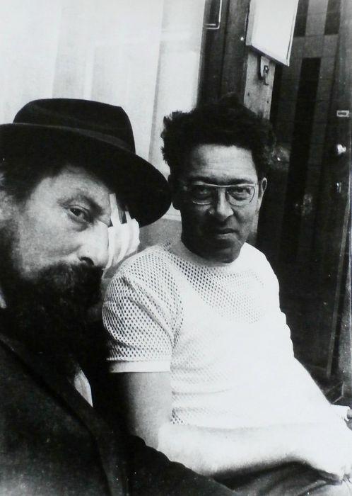 Gerard Fieret (1924-2009) - Zelfportret met vriend http://veiling.catawiki.nl/kavels/6332553-gerard-fieret-1924-2009-zelfportret-met-vriend