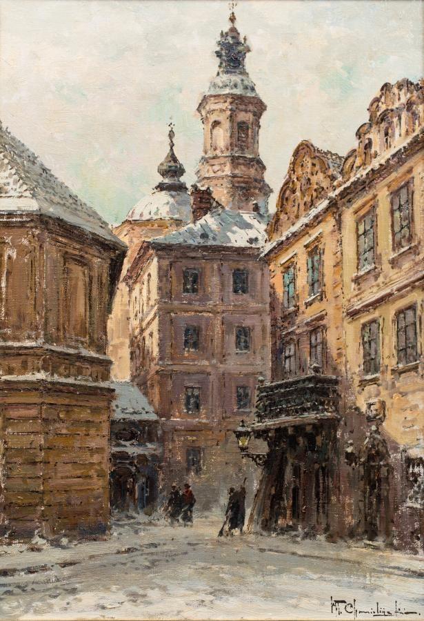 Władysław Chmieliński: Warszawa olej, płótno, 50 × 35 cm sygn. p.d.: Wł. Chmieliński
