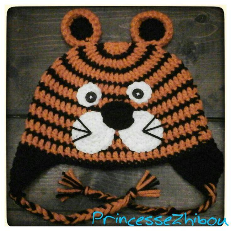 Tuque pour enfant M. Tigre. princessezhibou.tumblr.com