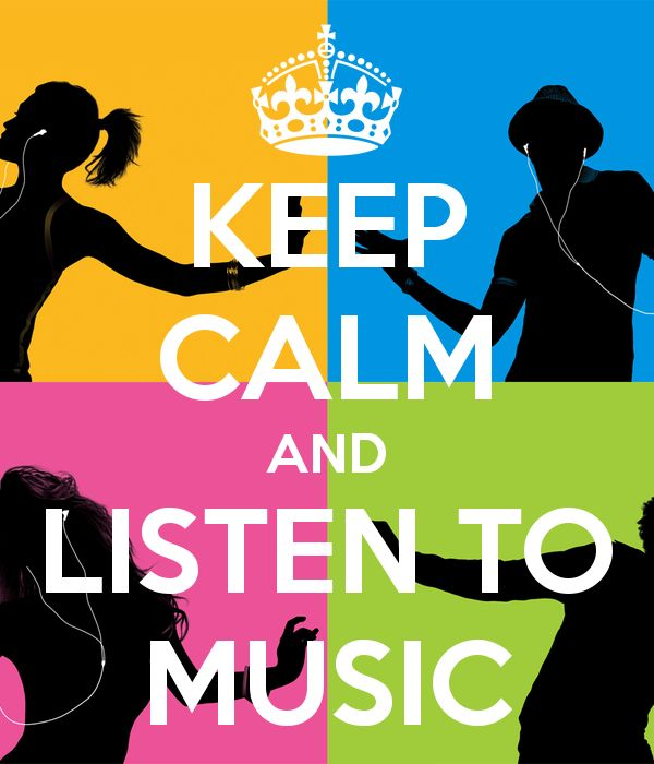 Keep Calm And Listen To Music Creative Keep Calm Posters