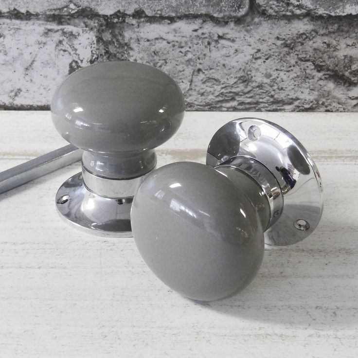 Perfect knobs for the kitchen! it'll match the floor grey internal turning mortice door knobs by pushka home | notonthehighstreet.com
