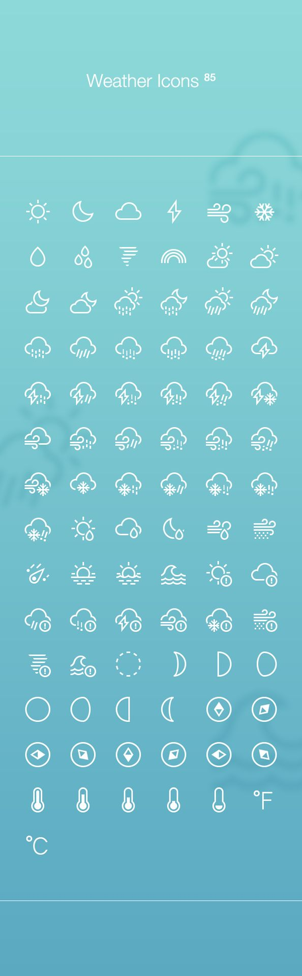 Web design freebies, Free Weather Icons