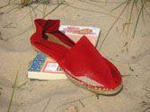 Women's simple red espadrille ropeysoles.com