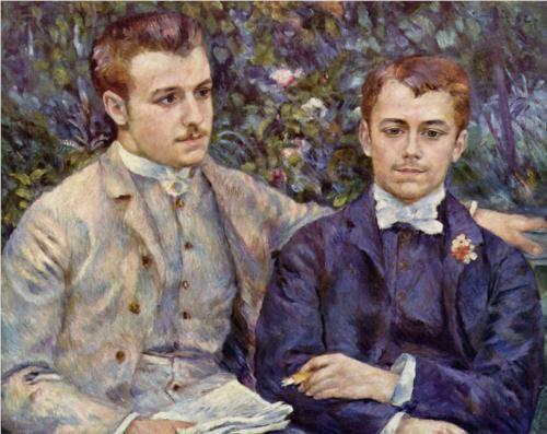 PortraitofCharlesandGeorgesDurandRuel - Pierre-Auguste Renoir: De Charles, Pierre August Renoir, Renoir 1841 1919, Artist, Portraits, 1882, Painting