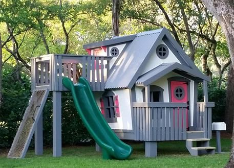 27 best playhouses images on pinterest play structures for Big kid playhouse