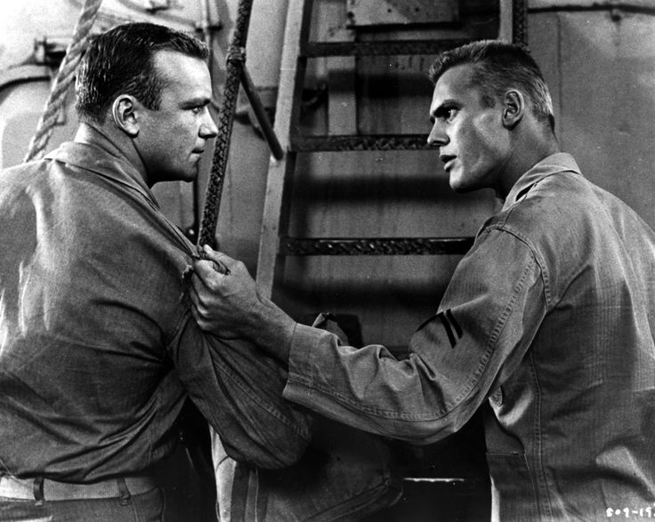 Aldo Ray and Tab Hunter - BATTLE CRY