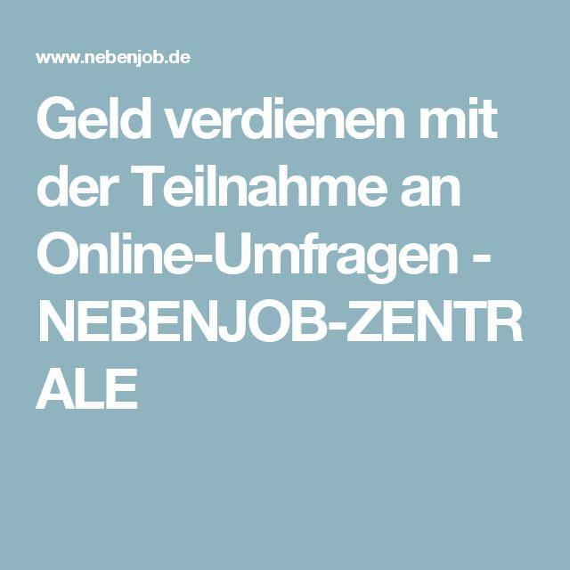 Geld verdienen mit der Teilnahme an Online-Umfragen - NEBENJOB-ZENTRALE