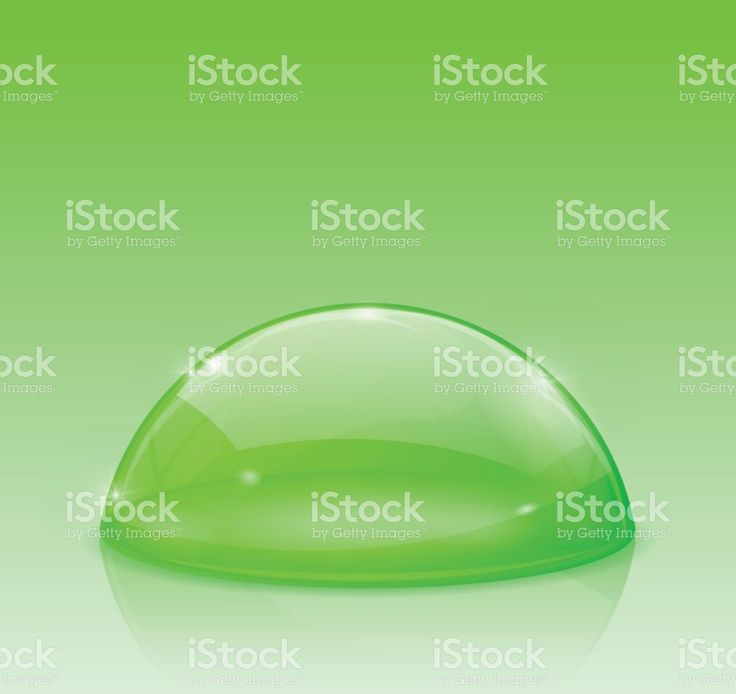 Green dome, glass semi-sphere royalty-free stock vector art