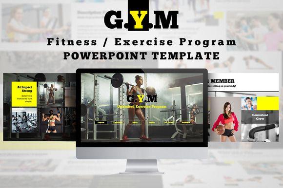 Fitness Center / Exercise Program Powerpoint Templates