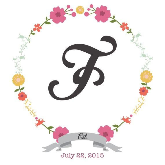 Floral Letter and Number