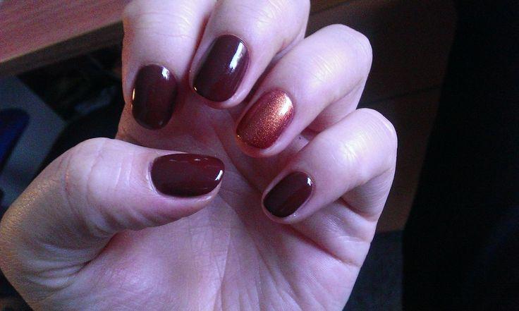 autumn nails,cupio,semipermanent