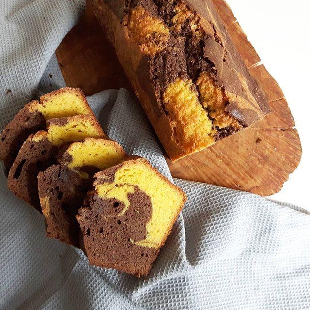 Marmercake van Ganzeneieren gebruikt.